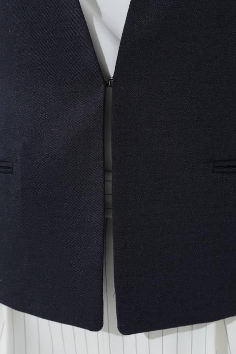 【ウォッシャブル】スラブツイルノーカラージャケット