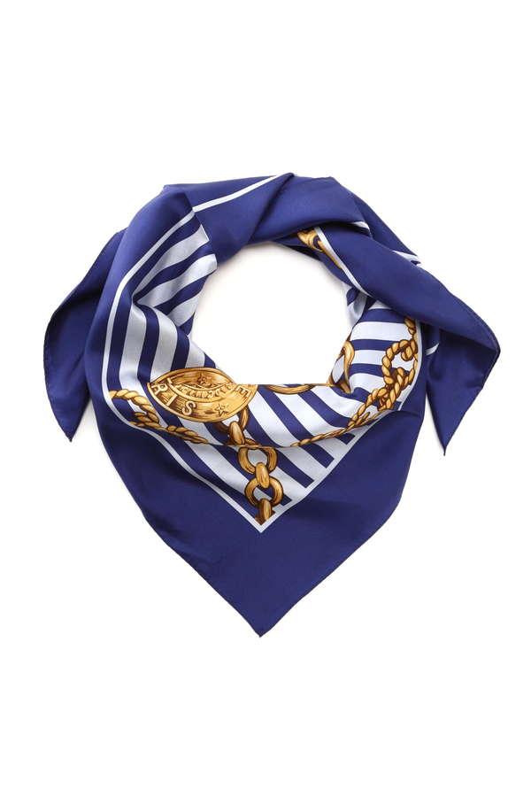 チェーンプリントスカーフ
