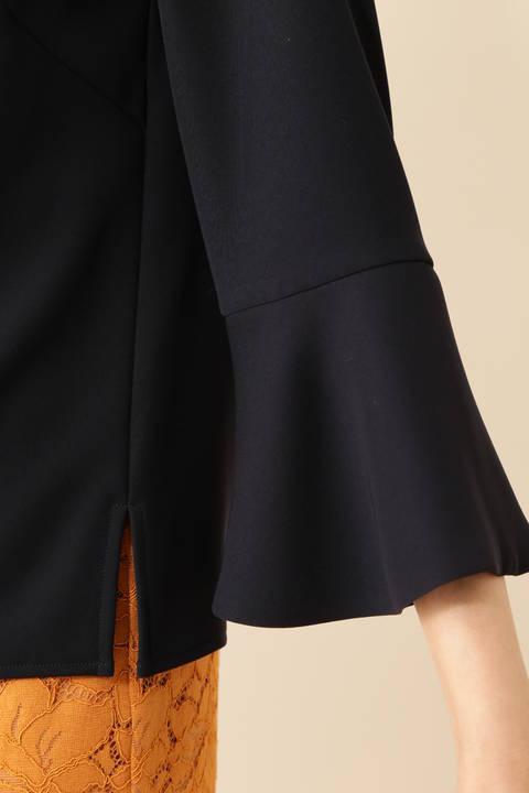 【ドラマ 木南晴香さん着用】[WEB限定商品]《B ability》パールホックフレアスリーブブラウス