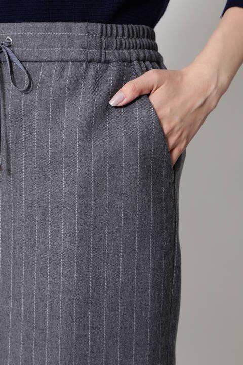 ウールストライプスカート
