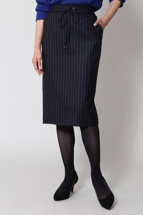 【先行予約 9月下旬-10月上旬 入荷予定】ウールストライプスカート