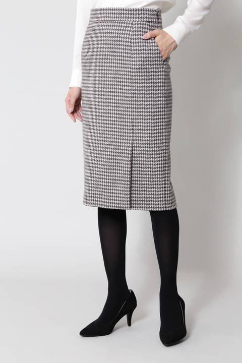 【先行予約 10月下旬-11月上旬入荷予定】ウールハウンドトゥーススカート