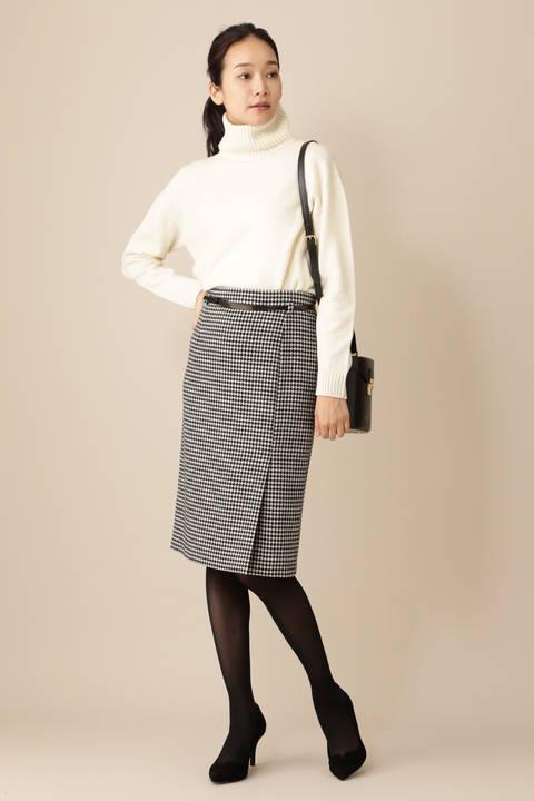 《B ability》千鳥ツィードラップスカート