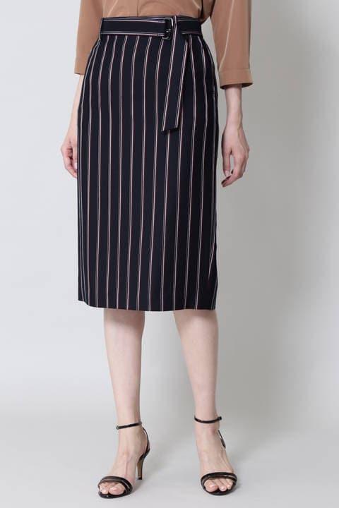 【水卜麻美さん着用】カレッジストライプスカート