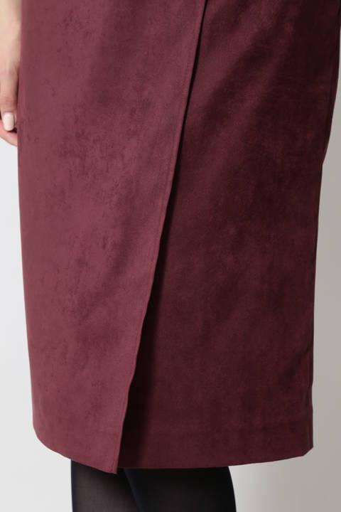 【ドラマ 中村アンさん着用】ベルト付スエードスカート