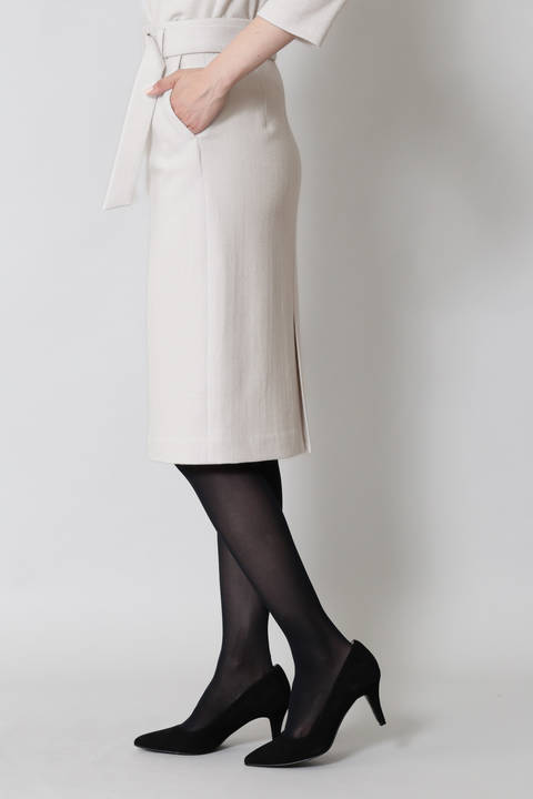 【水卜麻美さん着用】ヘリンボーンジャージスカート