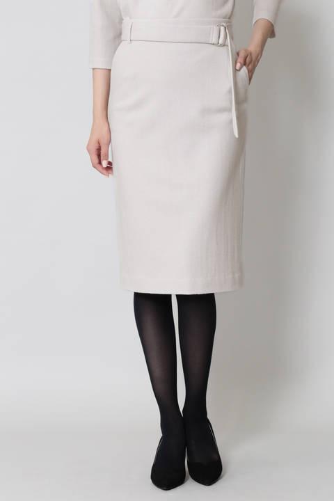 ヘリンボーンジャージスカート