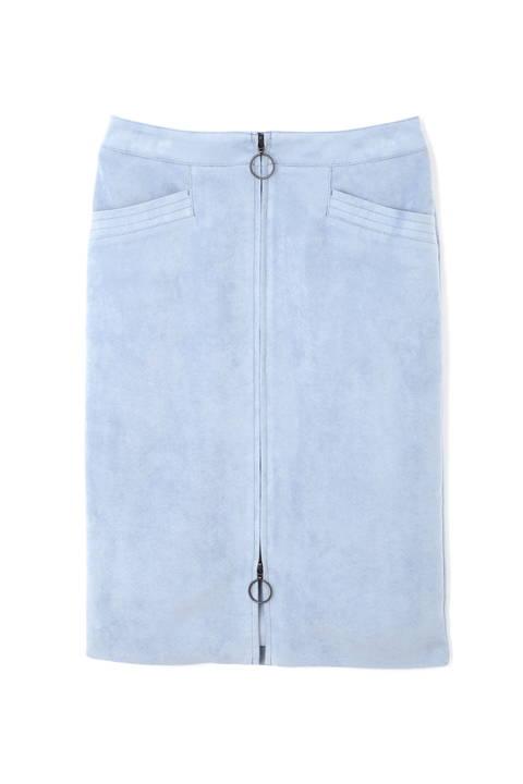 [WEB限定商品]フェイクスエードジップ付きスカート