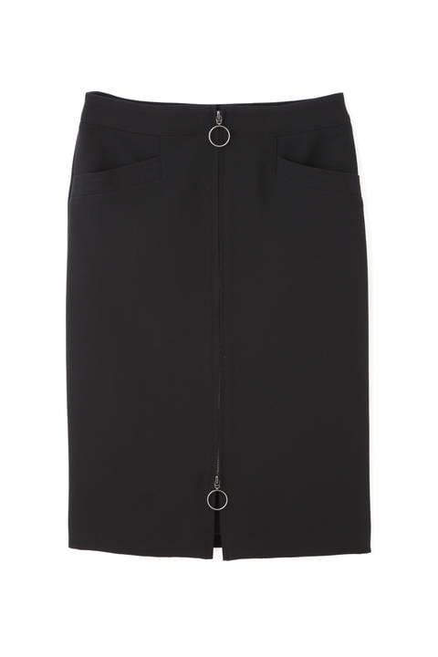 【先行予約 9月上旬 入荷予定】[WEB限定商品][ウォッシャブル]フロントジップスカート