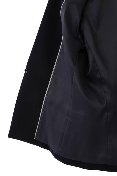 《B ability》Wサテンノーカラージャケット