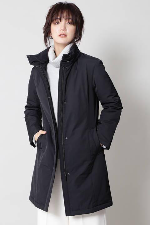 ファー付中綿コート