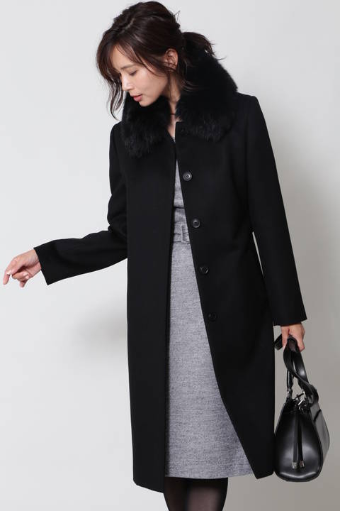 【先行予約 10月下旬 入荷予定】カシミヤ混ビーバーコート