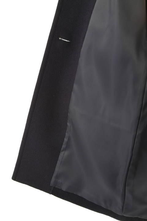[WEB限定商品]フード付きウールコート