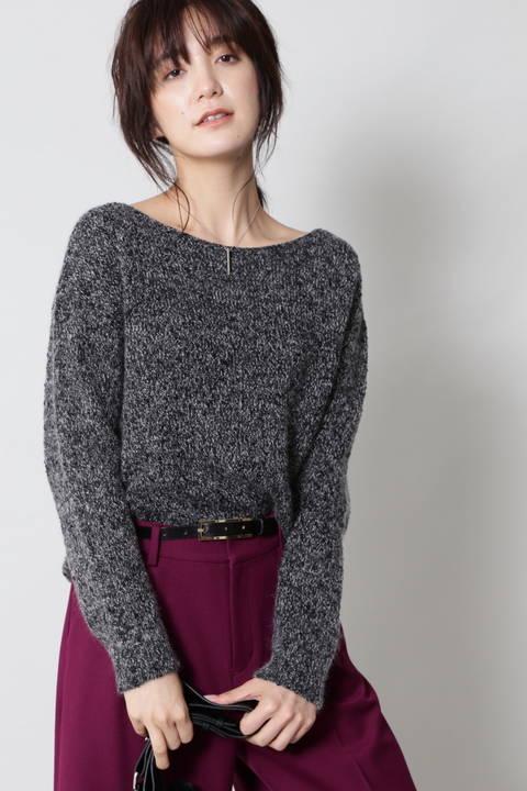 【ドラマ 米倉涼子さん着用】【CLASSY 11月号掲載】ラメツィードニット