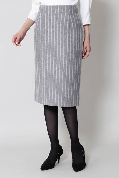 【CLASSY 11月号掲載】ストライプミラノリブニットスカート