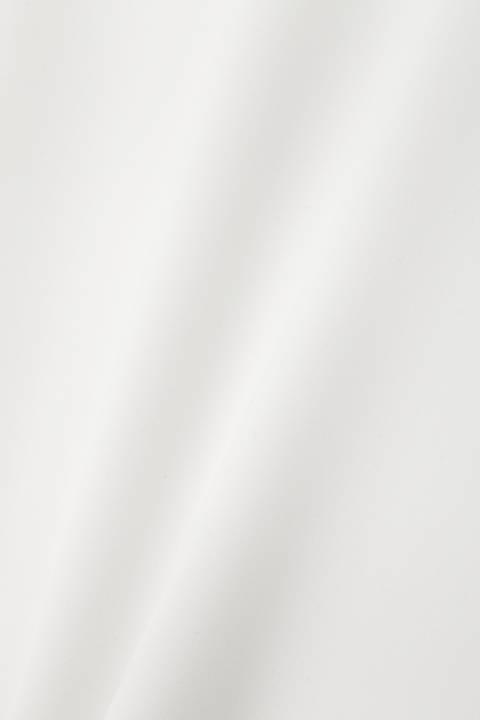[ウォッシャブル]Vネックタックブラウス