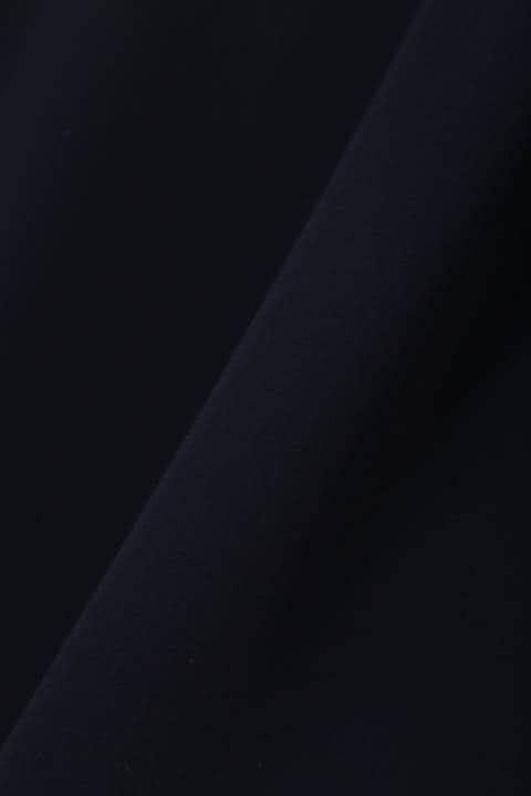[ウォッシャブル]キーネックタックブラウス