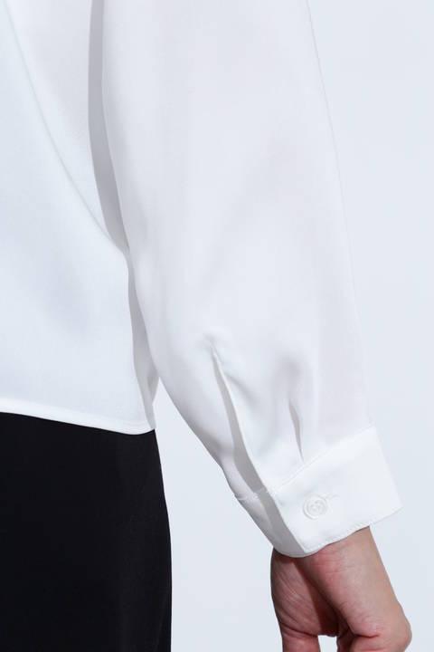 【ドラマ 内田有紀さん着用】[ウォッシャブル]タックブラウス