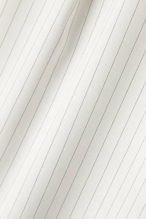 [ウォッシャブル]ピンストライプセットアップブラウス