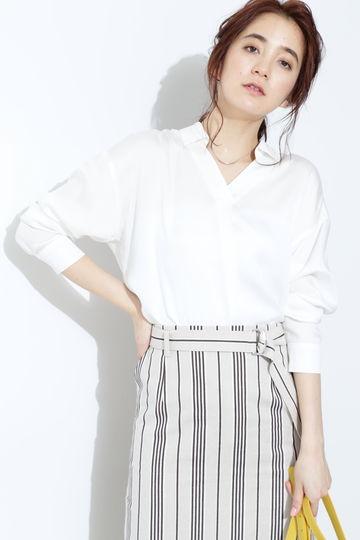 【雑誌 Oggi 5月号掲載】リヨセルサテンシャツ