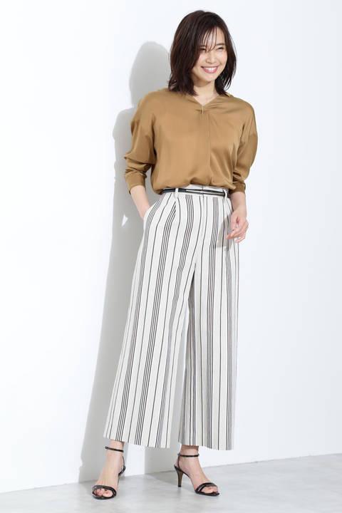 【雑誌 Oggi 5月号掲載】[ウォッシャブル]リヨセルサテンシャツ