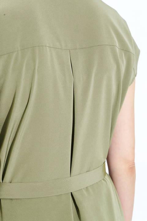 [ウォッシャブル]ポケット付きロングブラウス