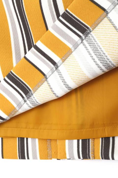 [ウォッシャブル]マルチストライプタイトスカート