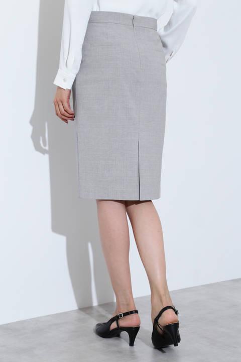 ウォッシャブルストレッチウールスカート