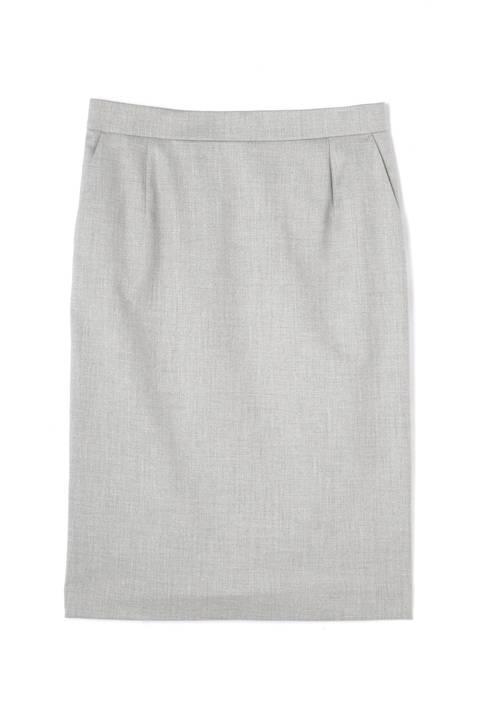 [ウォッシャブル]シャークスキンタイトスカート