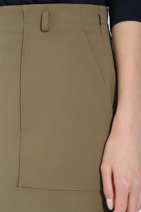 [ウォッシャブル]ベルト付きポケットタイトスカート