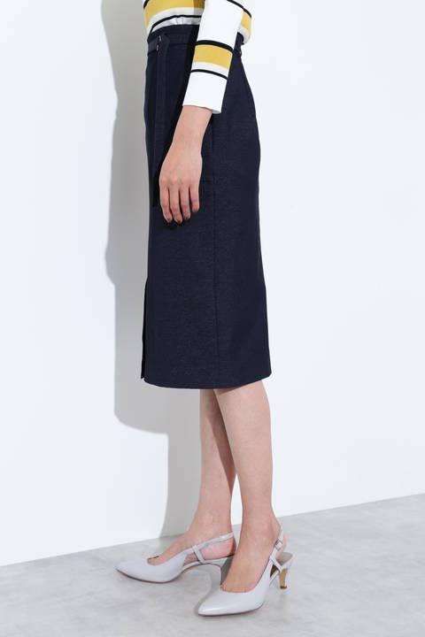 [ウォッシャブル]デニム調シャンブレースカート