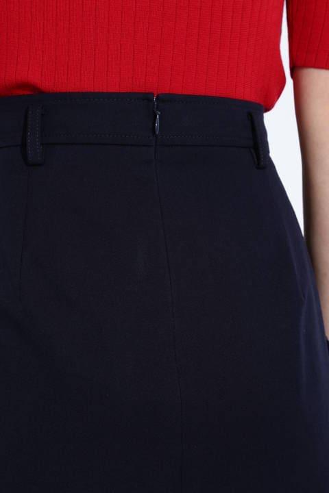【ドラマ 内田有紀さん着用】[ウォッシャブル]ポケット付きラップ調スカート