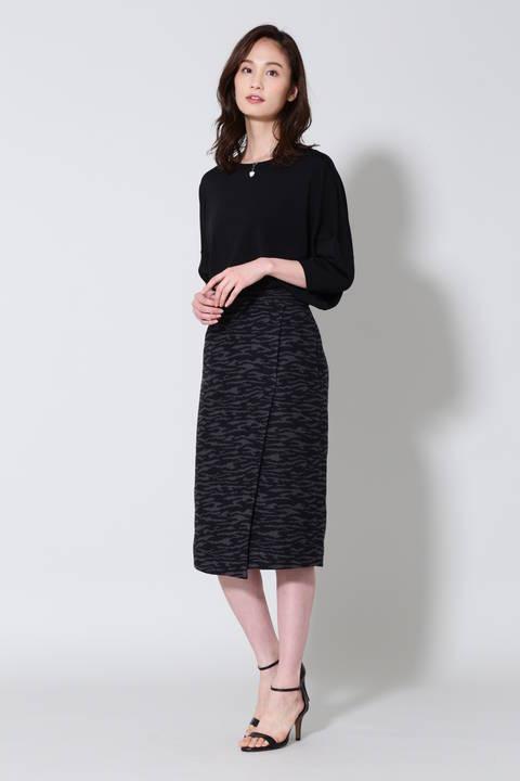 【J∞QUALITY】《B ability》ゼブラジャカードタイトスカート