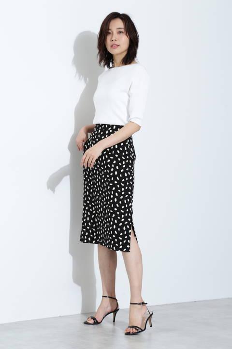 アニマルプリントタイトスカート