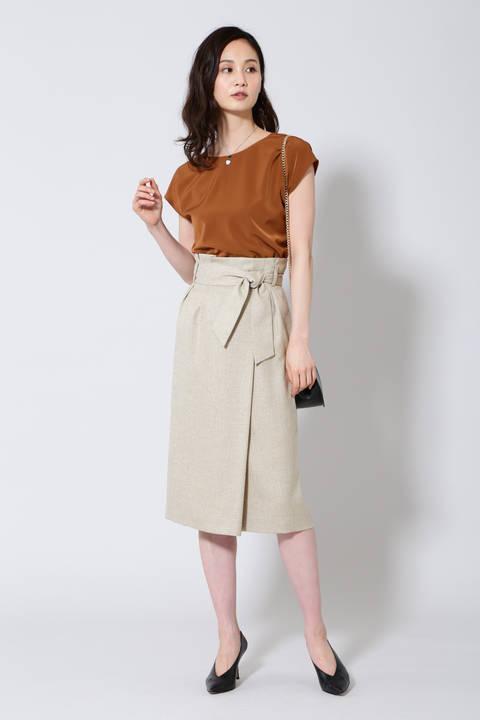 【雑誌 Oggi 5月号掲載】《B ability》麻調スラブセットアップスカート