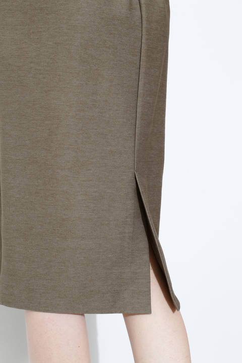 [ウォッシャブル]ストレッチデニムジャージースカート