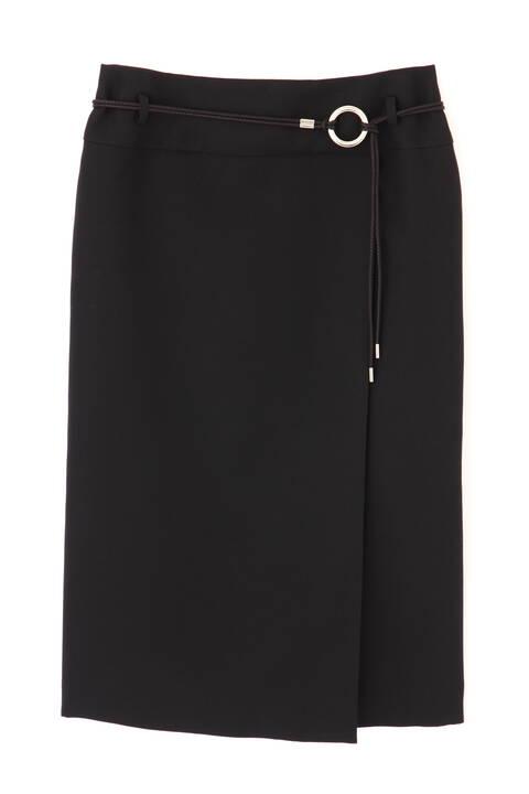 《B ability》ベルト付ラップ調スカート