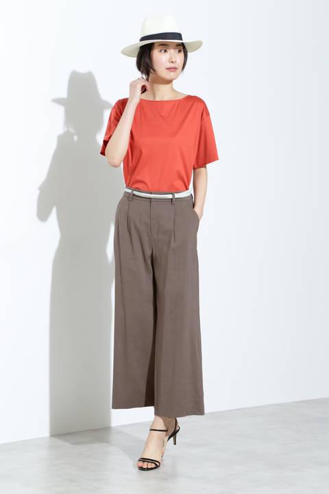 【雑誌 CLASSY 5月号掲載】麻ストレッチワイドパンツ