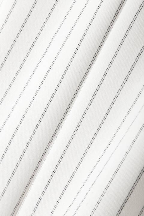 [ウォッシャブル]《B ability》ハイウエストストライプワイドパンツ