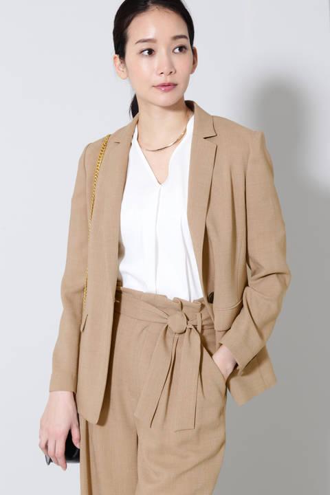 【雑誌 Oggi 4月号掲載】《B ability》麻調ツイルセットアップジャケット