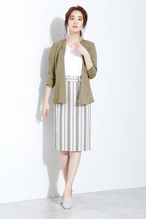 【ドラマ 菜々緒さん着用】[ウォッシャブル]マットサテンセットアップジャケット