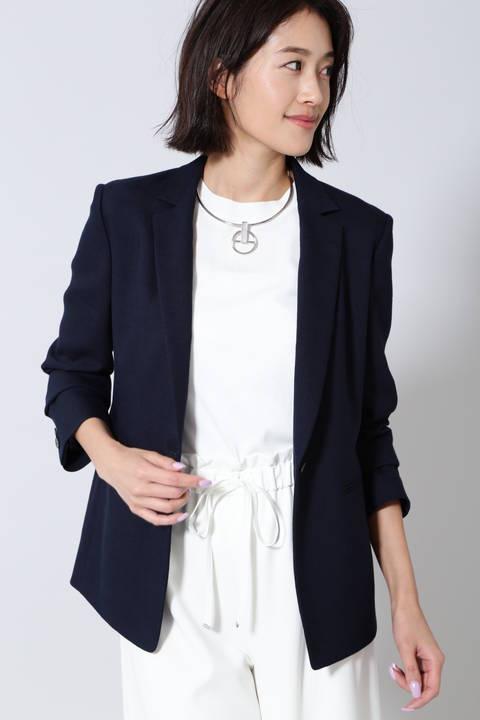 麻混テーラードジャケット