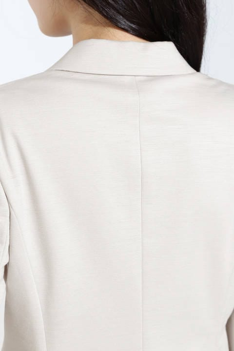[ウォッシャブル]麻混ミラノリブセットアップジャケット