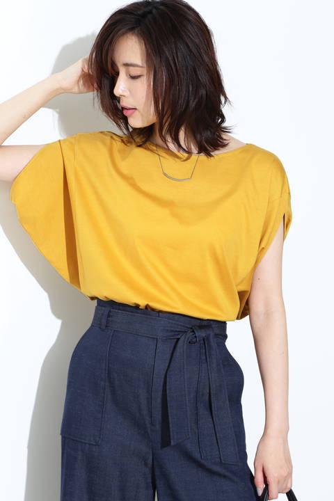 [ウォッシャブル]ボリュームTシャツ