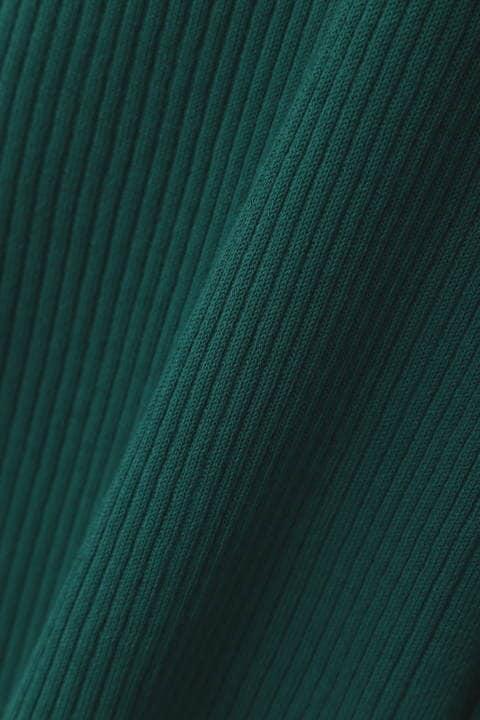 [ウォッシャブル]ロングリブカーディガン