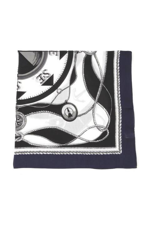 マリンプリントスカーフ