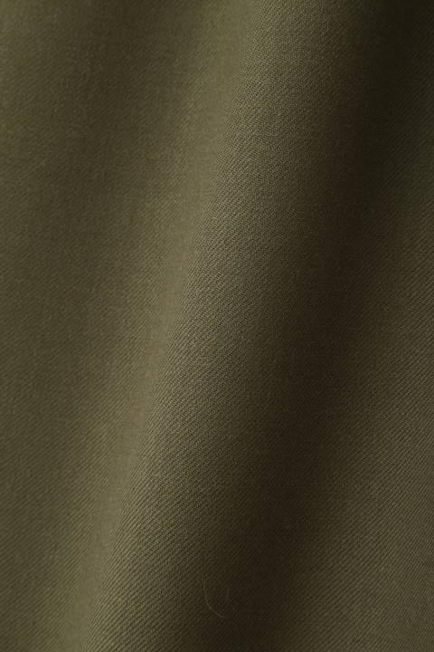 [ウォッシャブル]ウール混ロングブラウス