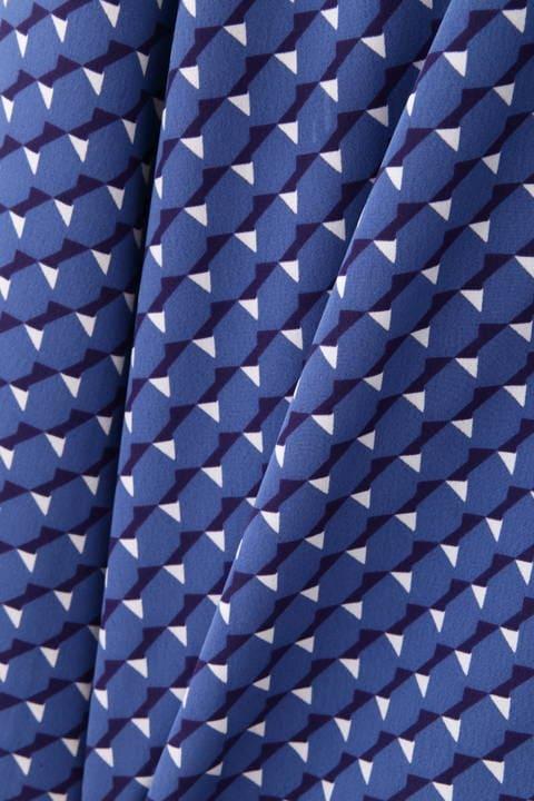 【アナウンサー 高橋真麻さん着用】[ウォッシャブル]幾何2WAYボータイブラウス