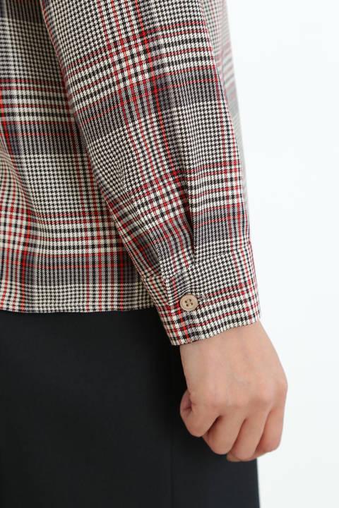 【アナウンサー 加藤綾子さん着用】[WEB限定商品]チェックボータイブラウス