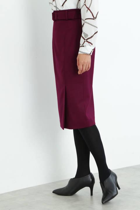 【ドラマ 波瑠さん着用】[ウォッシャブル]裏起毛セットアップスカート